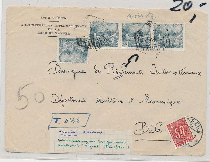 Spanien -  Beleg  in die Schweiz Nachporto  (ze364 ) siehe scan
