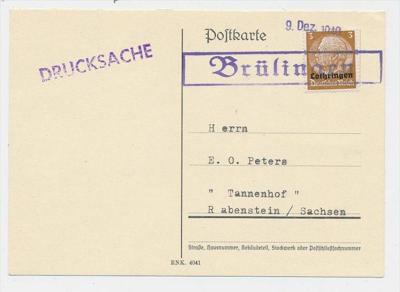 Lothringen- Stempel Beleg...  (be6018 ) siehe scan !