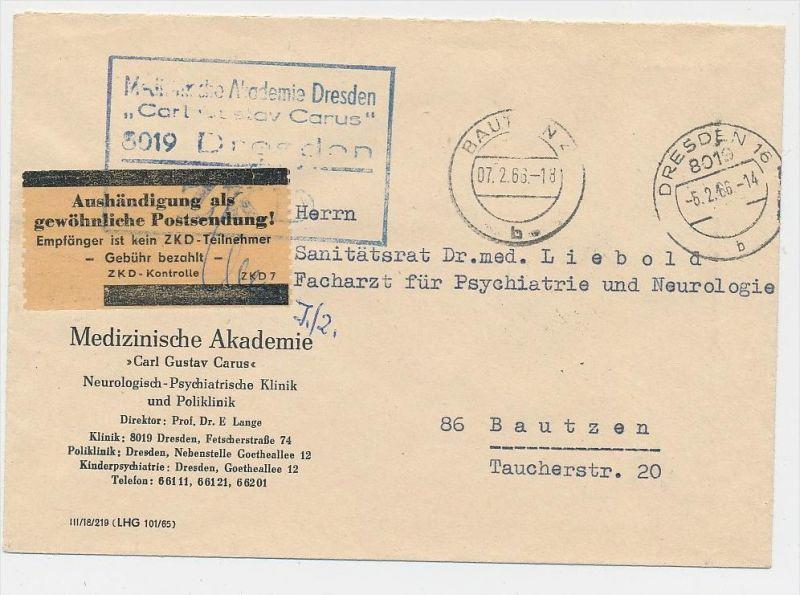 DDR Dienstpost Beleg  (be6025) siehe scan !