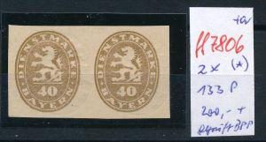 Bayern Abart  2x 133 P  (*)  geprüft   (ff7806  )  siehe scan