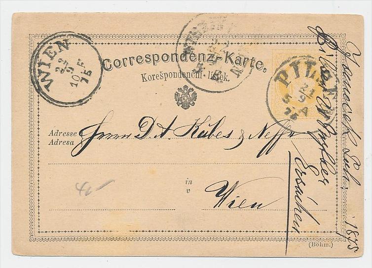 Österreich alter  Stempel Beleg -Ganzsache  (be5671 )  siehe scan