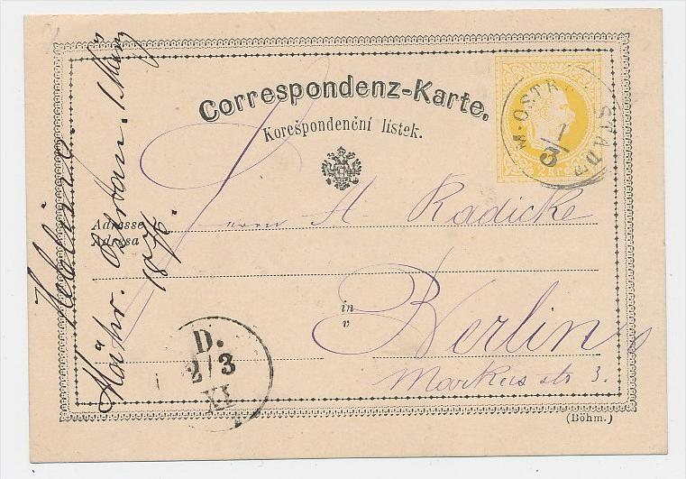 Österreich alter  Stempel Beleg -Ganzsache  (be5672 )  siehe scan