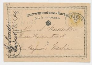 Österreich alter  Stempel Beleg -Ganzsache  (be5684 )  siehe scan