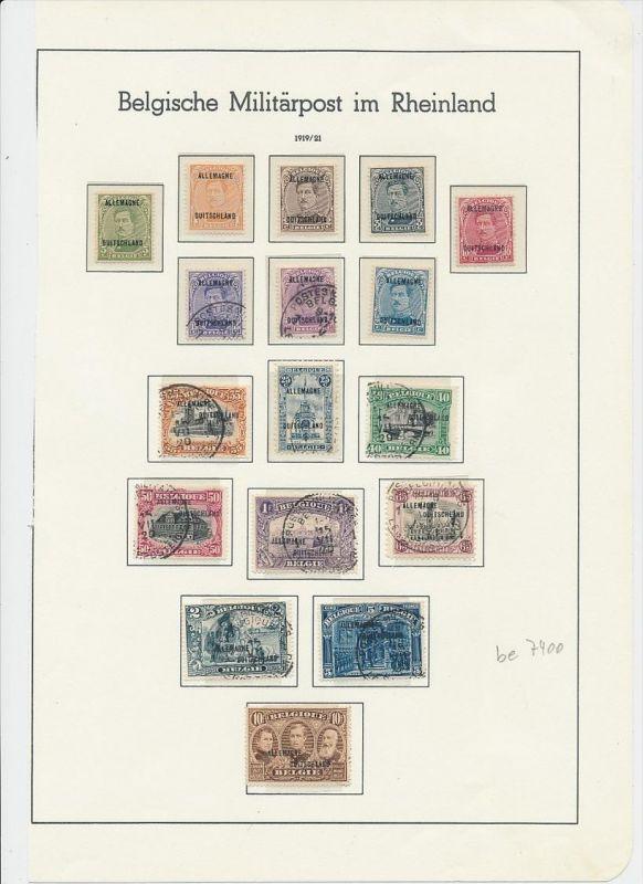 Belgische Militär Post   Lot */ o   (be 7400 ) siehe scan