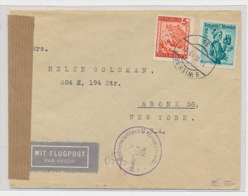 Österreich Beleg nach USA  Zensur (be6462  ) siehe scan