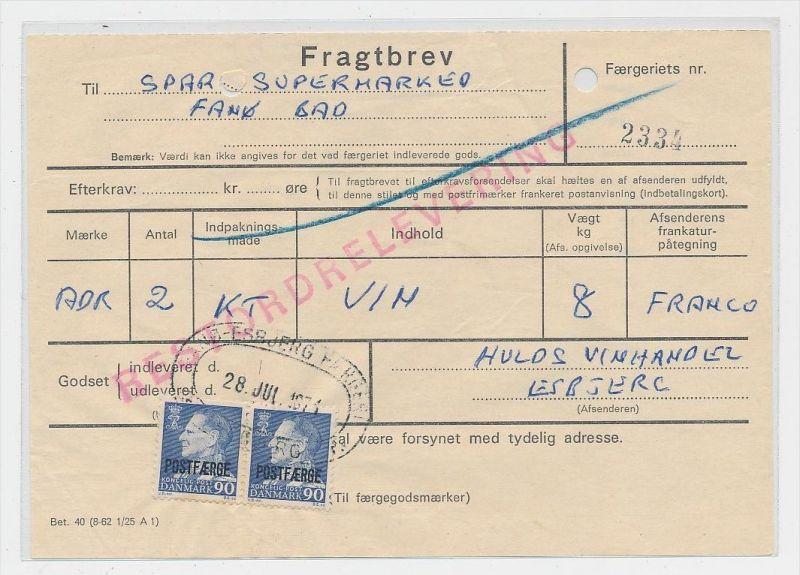 DK  -Beleg Postfähre...  ( ze825 ) siehe scan