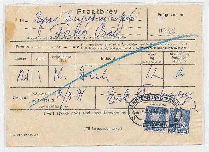 DK  -Beleg Postfähre...  ( ze820 ) siehe scan