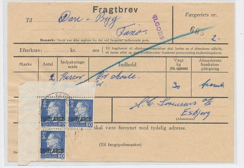 DK  -Beleg Postfähre...  ( ze821 ) siehe scan