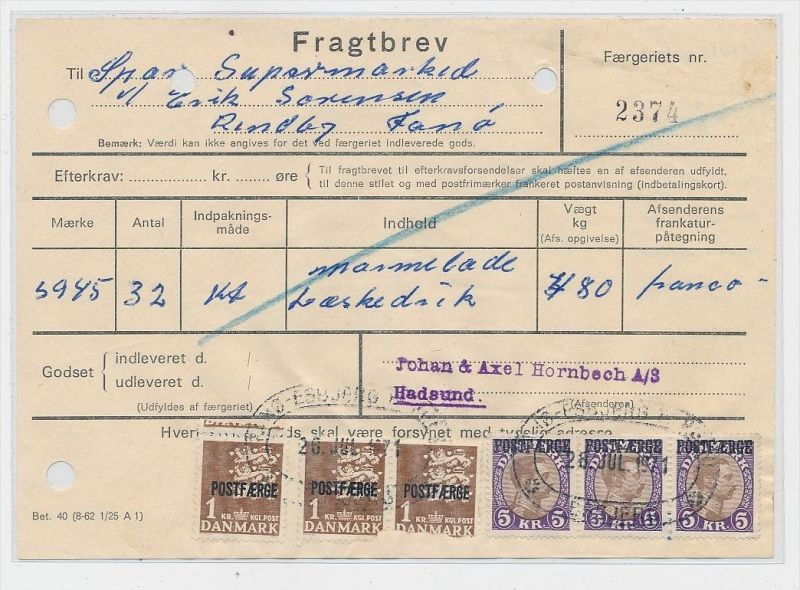 DK  -Beleg Postfähre...  ( ze822 ) siehe scan