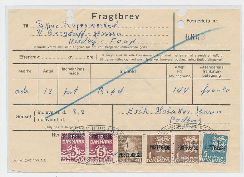 DK  -Beleg Postfähre...  ( ze823 ) siehe scan