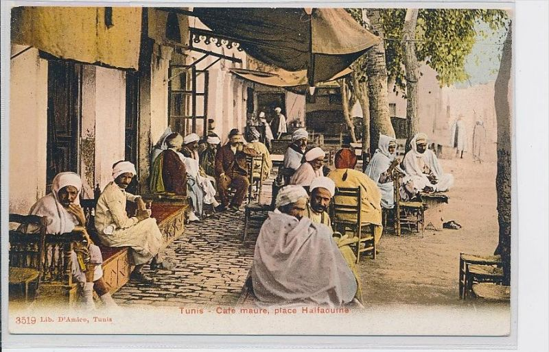 Algerien-alte Karte blanko ...  ( da5398  ) siehe scan