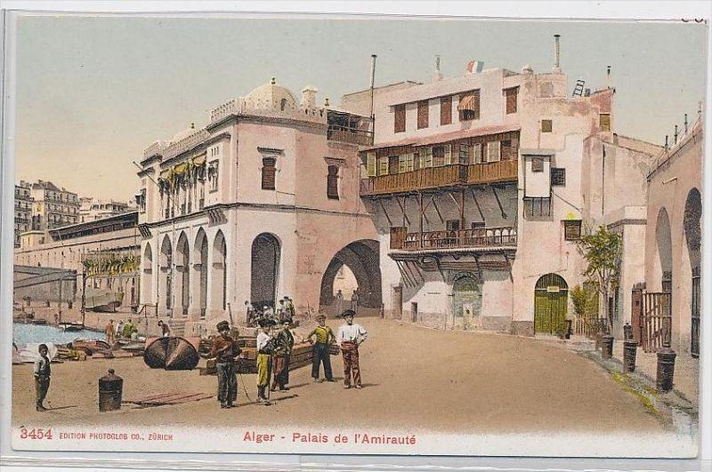 Algerien-alte Karte blanko ...  ( da5395  ) siehe scan