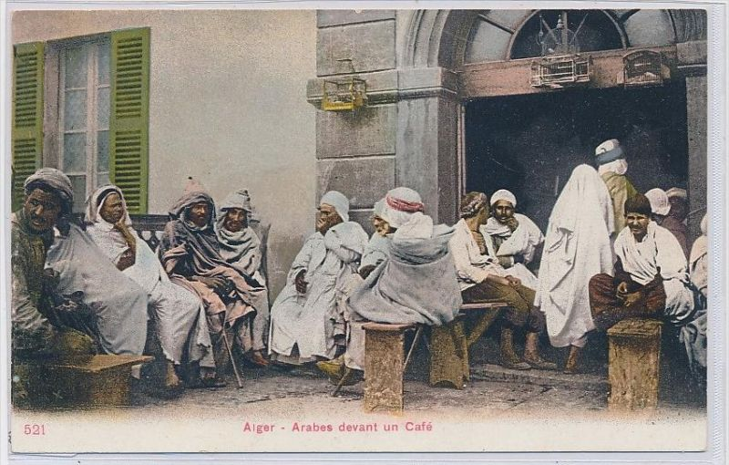 Algerien-alte Karte blanko ...  ( da5402  ) siehe scan