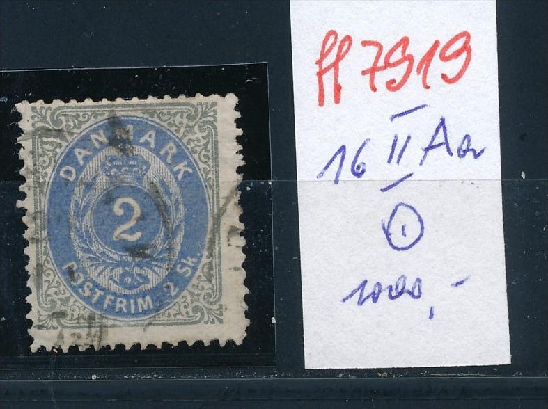 Dänemark  Nr.  16 II Aa      o( ff7919     ) siehe scan-vergrößert