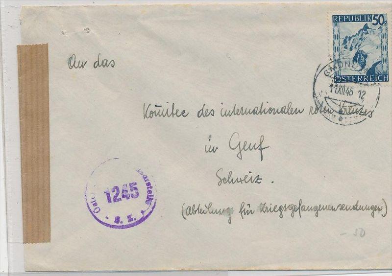 Österreich-alter Beleg -Zensur    ( be6914 ) siehe scan  !