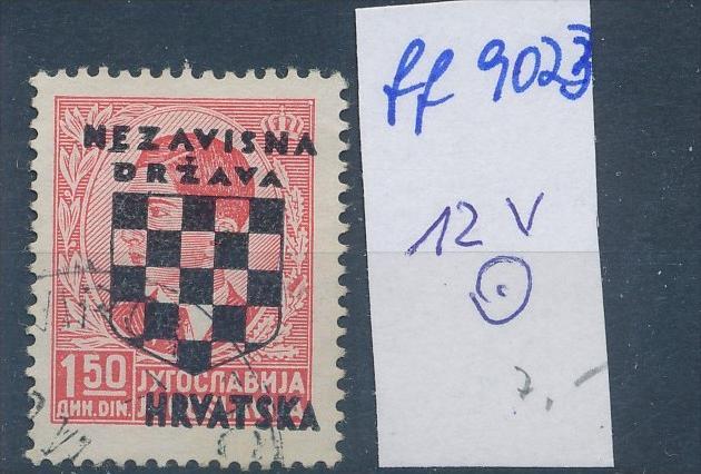 Kroatien  Nr. 12 V  o  (ff9023 ) siehe scan