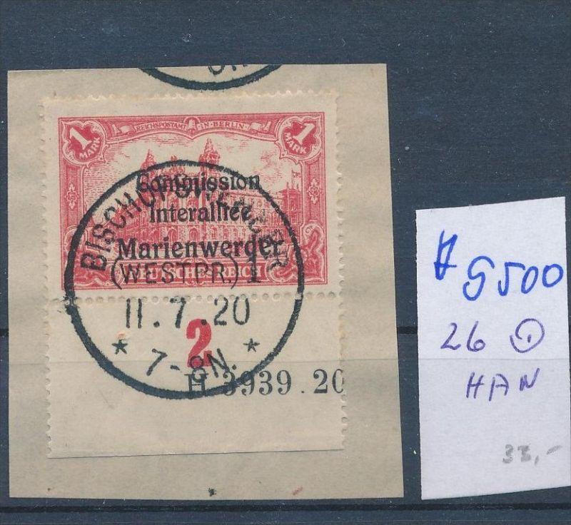Marienwerder Nr. 26 HAN   o  ( ff9500 ) siehe scan  !