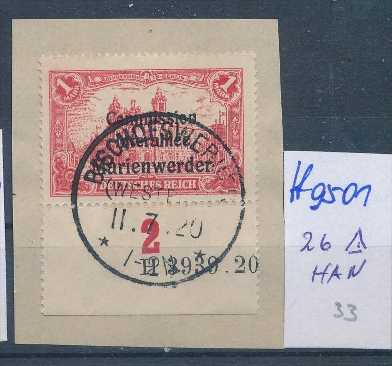 Marienwerder Nr. 26 HAN   o  ( ff9501 ) siehe scan  !