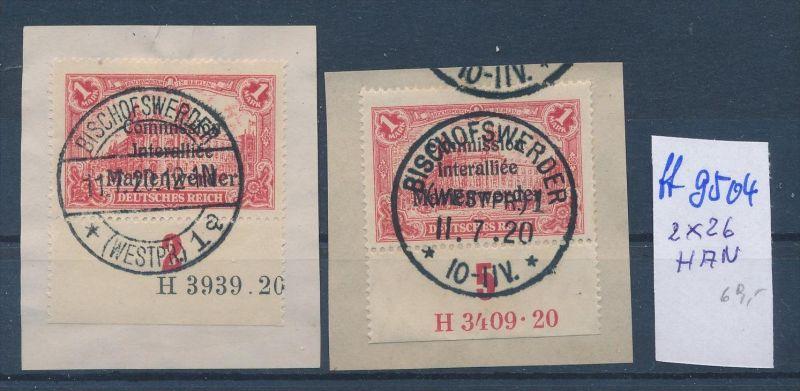 Marienwerder Nr. 2x  26 HAN   o  ( ff9504 ) siehe scan  !