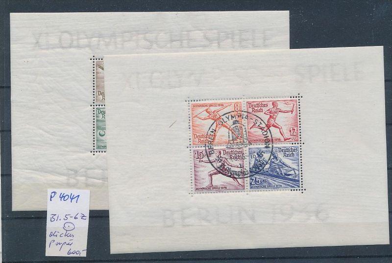 D.-Reich Block  5+6 Z  dickes Papier   (p4041 ) siehe scan !