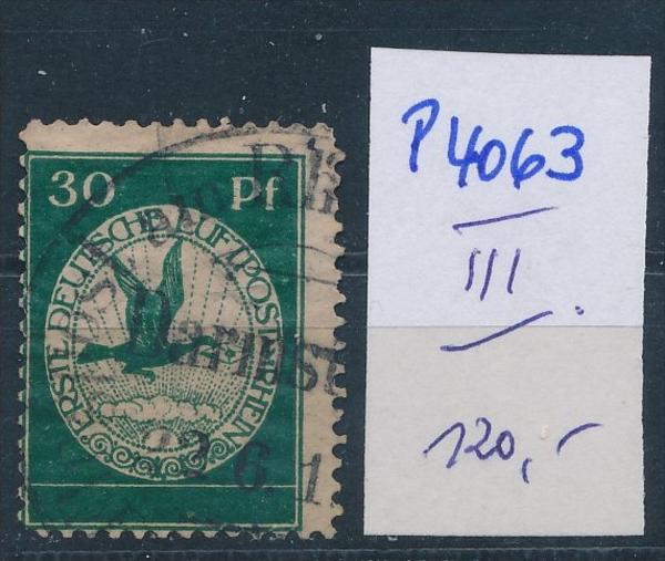 D.-Reich Nr.  III  Flugpost   o  (p4063 ) siehe scan !