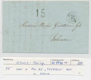 Schweiz Beleg  Tax-Stempel 1855    ( be8474  ) siehe scan  !