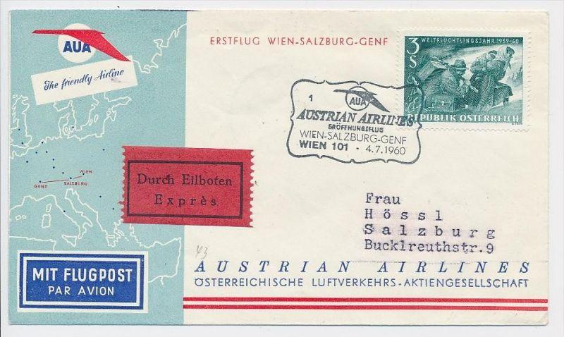 Österreich -Flugpost Beleg    ( be8145  ) siehe scan  !