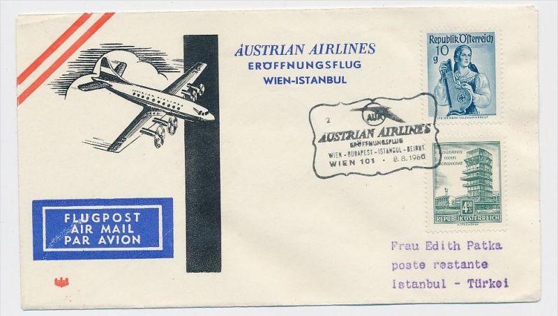 Österreich -Flugpost Beleg    ( be8174  ) siehe scan  !