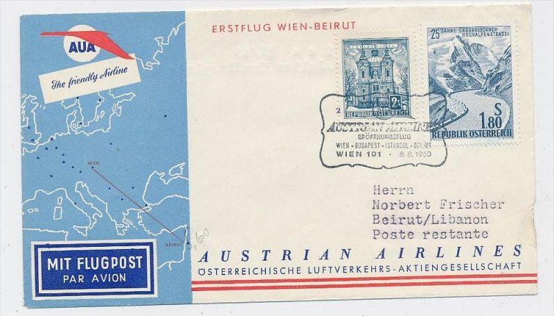 Österreich -Flugpost Beleg    ( be8175  ) siehe scan  !