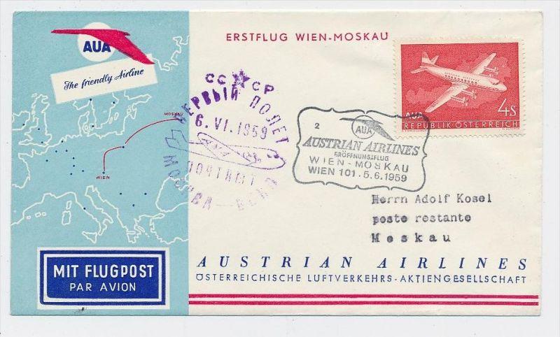 Österreich -Flugpost Beleg    ( be8176  ) siehe scan  !