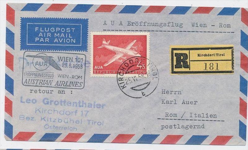 Österreich -Flugpost Beleg -  ( be8107 ) siehe scan  !