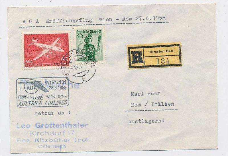 Österreich -Flugpost Beleg -  ( be8095  ) siehe scan  !
