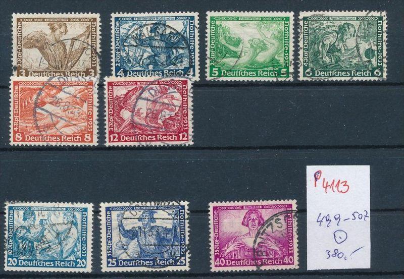 D.Reich  Nr. 499-507 o Wagner Serie    ( p4113  ) siehe scan  !