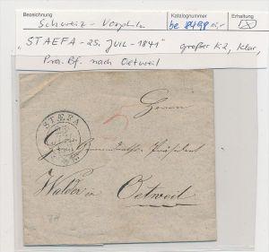 Schweiz -   Altbrief-  Staefa    (be8498 ) siehe scan