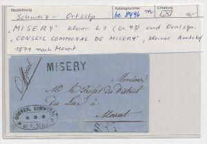 Schweiz -   Altbrief-  Misery  (be8496 ) siehe scan
