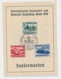 D.-Reich Sonderkarte/FDC 886-88     (be8554     ) siehe scan
