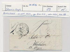 Schweiz -Altbrief - Burgdorf  (be8516 ) siehe scan