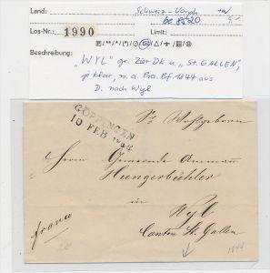 Schweiz -Altbrief - Göppingen  (be8520 ) siehe scan