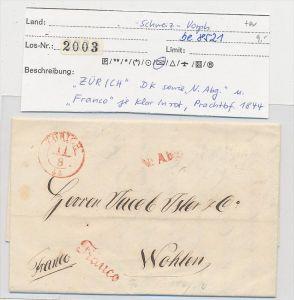Schweiz -Altbrief - Zürich  (be8521 ) siehe scan