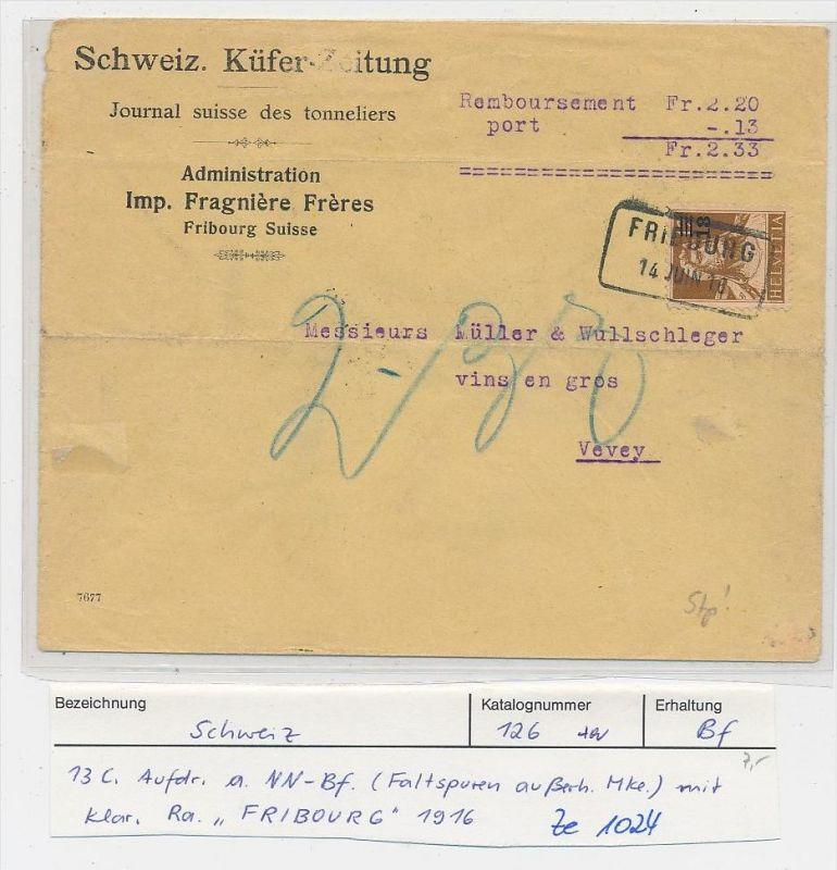 Schweiz - alter  Nachnahme Beleg     ( ze 1024  )  siehe Bild