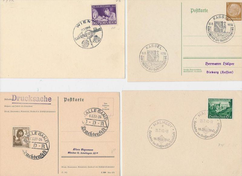 D.-Reich Stempel Lot - 8 Stück   ( be8025 ) siehe scan