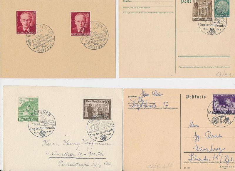 D.-Reich Stempel Lot - 8 Stück   ( be8020 ) siehe scan