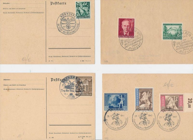 D.-Reich Stempel Lot - 8 Stück   ( be8021 ) siehe scan