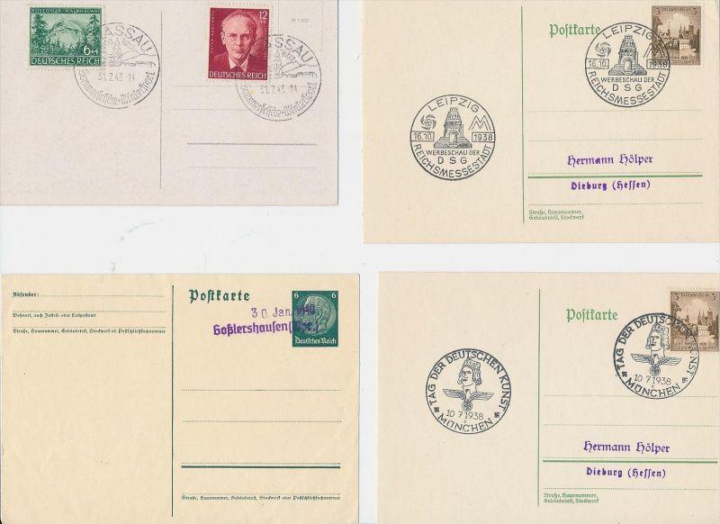 D.-Reich Stempel Lot - 8 Stück   ( be8031 ) siehe scan