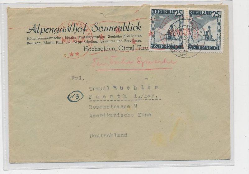 Österreich - Zensur  Beleg -Bedarf    ( be8953 ) siehe scan  !