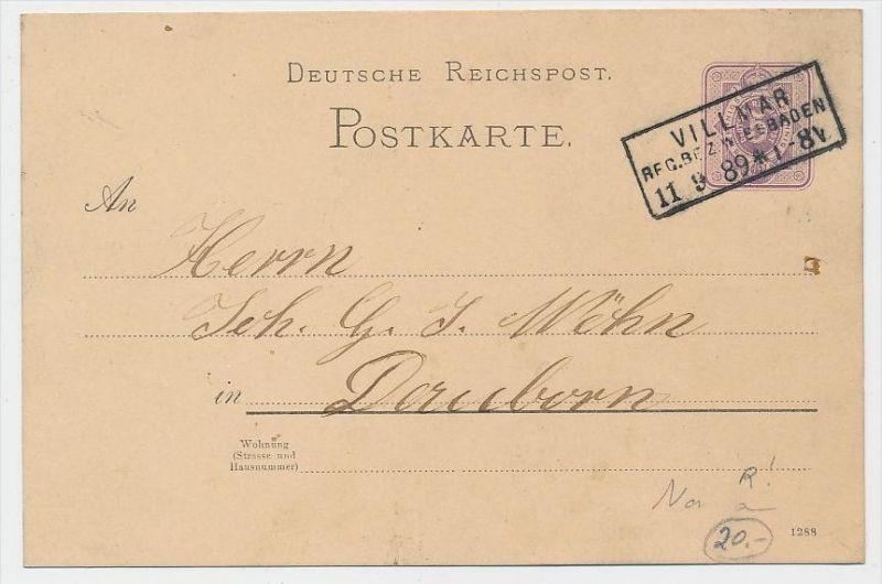 D.-Reich Ganzsache -Stempel Beleg !    ( be7888 ) siehe scan  !