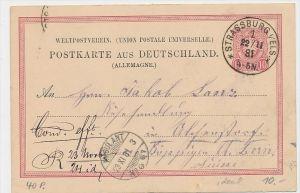 D.-Reich Ganzsache -Stempel Beleg !    ( be7889 ) siehe scan  !