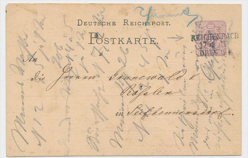 D.-Reich Ganzsache -Stempel Beleg !    ( be7893 ) siehe scan  !