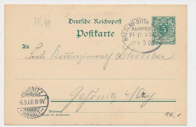 D.-Reich Ganzsache -Stempel Beleg !    ( be7894 ) siehe scan  !