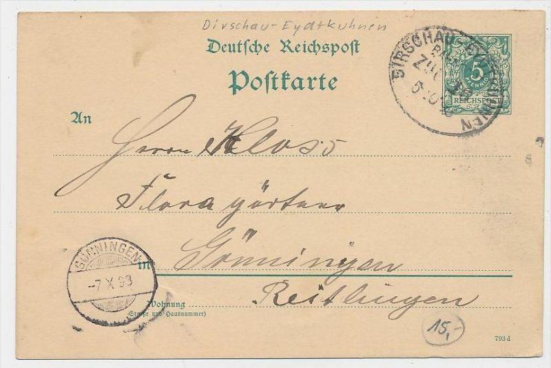 D.-Reich Bahnpost -Stempel Beleg !  ( be7903 ) siehe scan  !